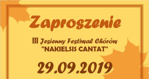 III edycja Jesiennego Festiwalu Chórów w Nakle. Wydarzenie 29 września