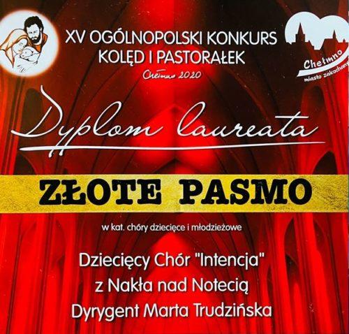 Chór z Nakła ze Złotym pasmem podczas konkursu w Chełmnie