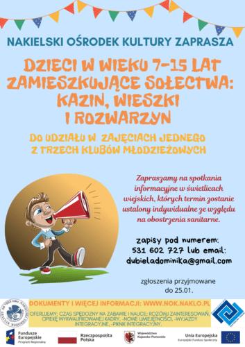 Zajęcia dla dzieci i młodzieży z sołectw gminy Nakło nad Notecią